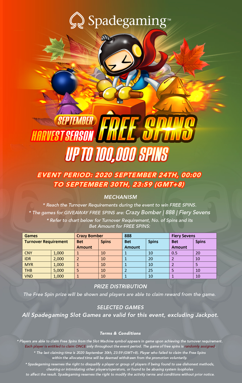 Promo Freespin Spade Gaming